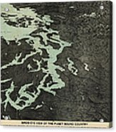 Antique Map Of The Puget Sound Washington By Charles H. Baker And Co. - 1891 Acrylic Print