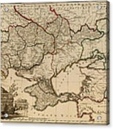 Antique Map Of The Russian Empire In Russian 1800 Acrylic Print