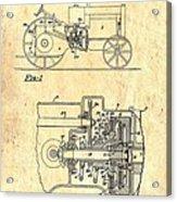 Antique Massey-ferguson Tractor Patent 1935 Acrylic Print