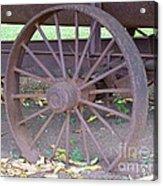 Antique Metal Wheel Acrylic Print