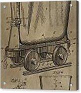 Antique Mining Trolley Patent Acrylic Print