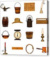 Antique Objects Collection Acrylic Print