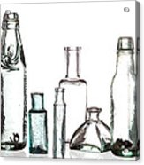 Antique Old Bottles Acrylic Print