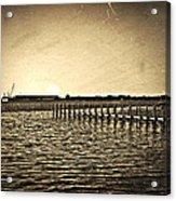 Antique Photo Of Pier  Acrylic Print