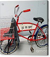 Antique Postal Delivery Bike Acrylic Print