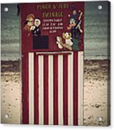 Antique Punch And Judy Acrylic Print