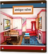 Antique Salon - Colonial Red And Blue Acrylic Print