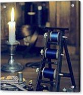 Antique Sewing Items Acrylic Print by Amanda Elwell
