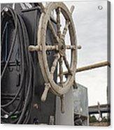 Antique Ship Steering Wheel Acrylic Print