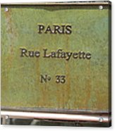 Antique Sign Acrylic Print