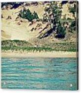Antique Snapshot Series - Dunes On Lake Michigan Acrylic Print
