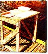 Antique Splitting Table Acrylic Print