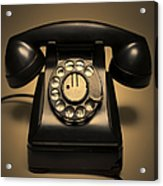 Antique Telephone Acrylic Print by Diane Diederich