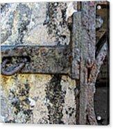 Antique Textured Metalwork Gate Acrylic Print