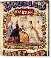 Antique Toilet Soap Ad - 1868 Acrylic Print