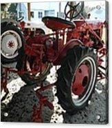 Antique Tractor Hiding In The Shadows Acrylic Print