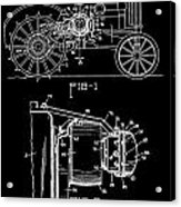 Antique Tractor Patent Acrylic Print