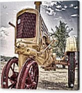 Antique Tractor Acrylic Print by Tamyra Ayles