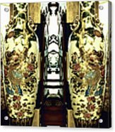 Antique Vases In The Interior Oil Painting On Canvas Acrylic Print
