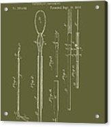 Antique Veterinary Instrument Patent 1888 Acrylic Print