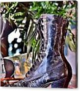 Antique Victorian Boots At The Boardwalk Plaza Hotel - Rehoboth Beach Delaware Acrylic Print