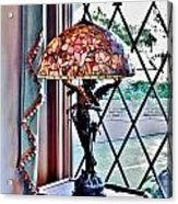 Antique Victorian Lamp At The Boardwalk Plaza - Rehoboth Beach Delaware Acrylic Print