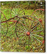 Antique Wagon Frame Acrylic Print