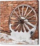 Antique Wagon Wheel Acrylic Print