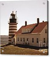 Antique West Quoddy Lighthouse Acrylic Print