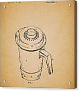 Antique Westinghouse Coffee Maker Patent 1964 Acrylic Print