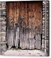 Antique Wood Door Damaged Acrylic Print