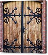 Antique Wooden Door Acrylic Print