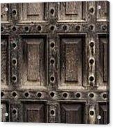 Antique Wooden Door Closeup Acrylic Print