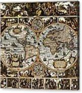 Antique World Map Circa 1670 II Acrylic Print