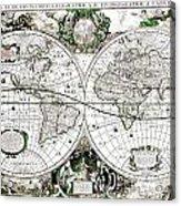 Antique World Map Poster Acrylic Print