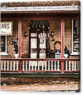 Antiques Bought And Sold Acrylic Print by Heather Applegate