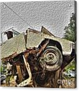 Antiques Broken Acrylic Print by Crystal Harman