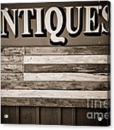 Antiques Sign Acrylic Print