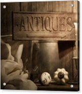 Antiques Still Life Acrylic Print by Tom Mc Nemar