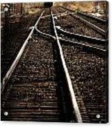 Antiquetrain On Tracks Acrylic Print