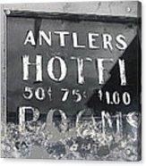 Antler's Hotel Front Door Ghost Town Victor Colorado 1971 1971-2013 Acrylic Print