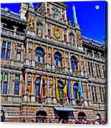 Antwerp's City Hall Acrylic Print