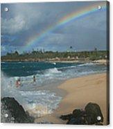 Anuenue - Aloha Mai E Hookipa Beach Maui Hawaii Acrylic Print