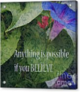Anything Is Possible Acrylic Print by Eva Thomas