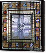 Anzac Day 2014 Auckland War Memorial Museum Stained Glass Roof Acrylic Print