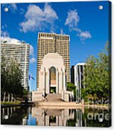 Anzac Memorial And Pool Of Reflection Acrylic Print