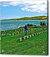 Anzak Cemetery Along The Dardenelles In Gallipolii-turkey Acrylic Print