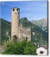 Aosta Valley - Chatelard Ruins Acrylic Print