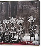 Apache Crown Dancers Date And Location Unknown 2013 Acrylic Print