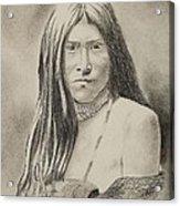 Apache Girl 1906 Acrylic Print